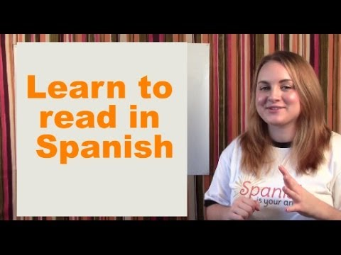 Learn to read in Spanish