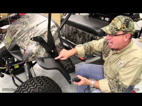 EZGO TXT Clays Basket | How to Install on Golf Cart | Episode 13
