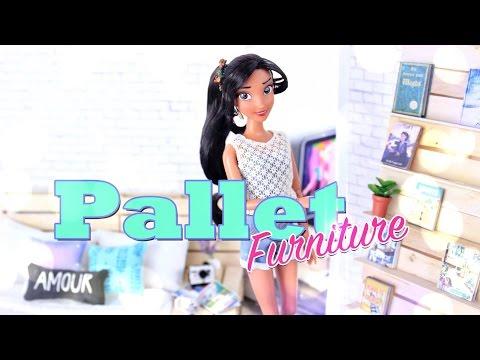 DIY - How to Make Doll Pallet Furniture - Handmade - Crafts