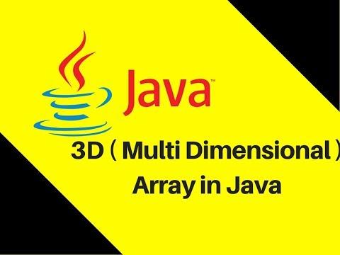6.13 3D ( Multi Dimensional ) Array in Java