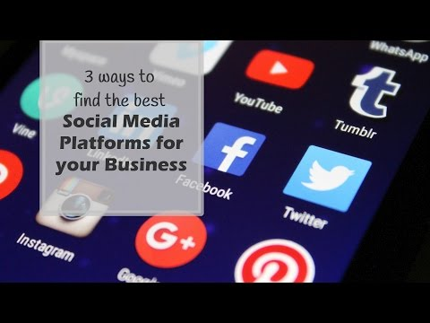 3 Ways to choose the best social media platforms for your business