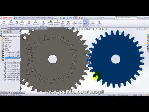 Compound Gear Train - Video Tutorial SolidWorks