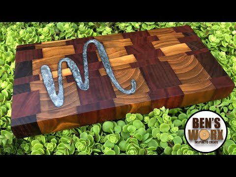 MAKE AN END GRAIN SERVING BOARD WITH RESIN INLAY