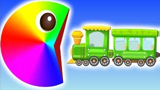 Pacman Pacman | Warna Mainkan | Bayi Bus Pac-Man Dongeng