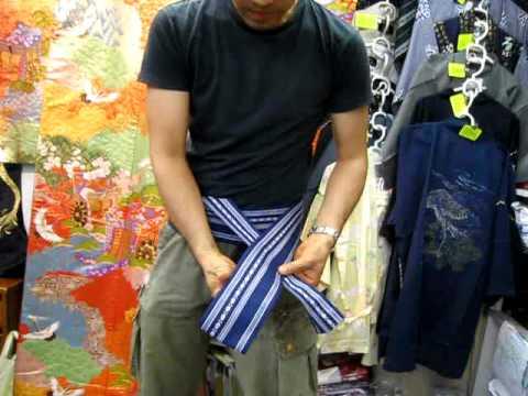 How to tie a yukata belt