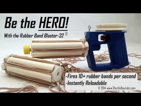 Automatic Rubber Band Blaster Kit Video!