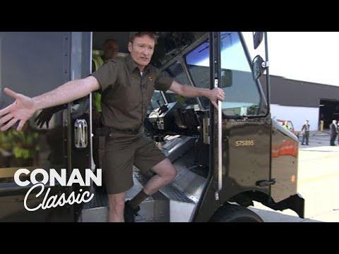 "Conan Becomes A UPS Deliveryman - ""Late Night With Conan O'Brien"""