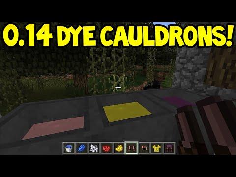 Minecraft Pocket Edition - 0.14.0 Update! - NEW DYE CAULDRONS!