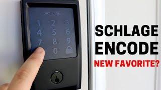 Schlage Encode: Super Sleek, Matte Black WiFi Lock