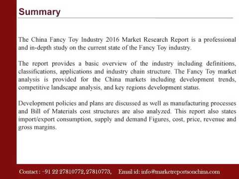 China Fancy Toy Industry 2016 Market Research Report