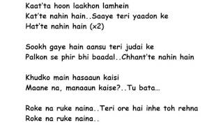 Roke Na Ruke Naina Lyrics Full Song Lyrics Movie - Badrinath Ki Dulhania (2017)