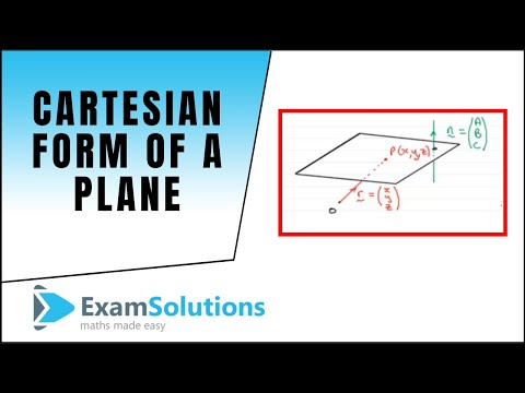 Cartesian form of a Plane : ExamSolutions Maths Revision