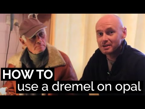 How to use a dremel on opals and opal carvings. By black opal direct
