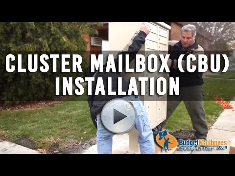 Florence Manufacturing | Cluster Mailbox (CBU) Installation | Budget Mailboxes