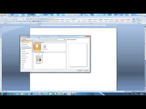 Creating New Document in Microsoft Word 2007 in Punjab Language