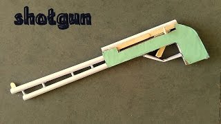 how to make cardboard & paper shotgun - toy for kids story game