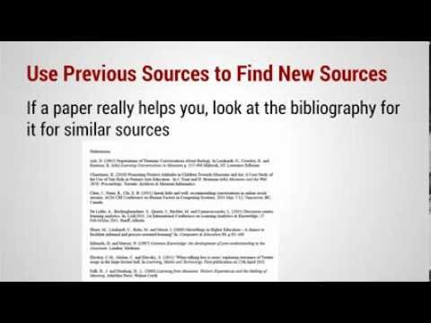 Research Paper: Annotated Bibliography Intro