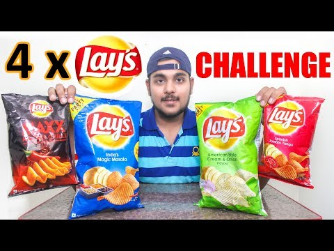 Lays Potato Chips Eating Challenge India | Food Challenge India