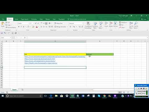 Get domain name from URL in Excel