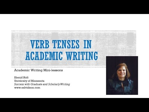 Verb tenses in academic writing