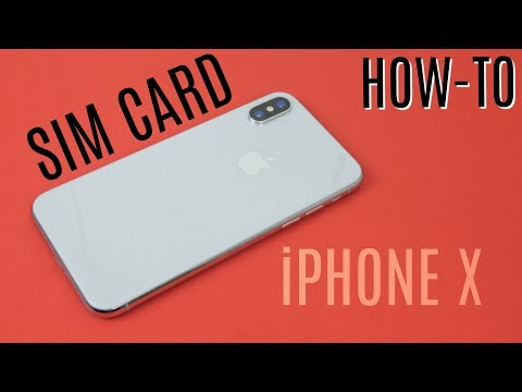 How to Insert SIM Card to iPhone X! Install guide.