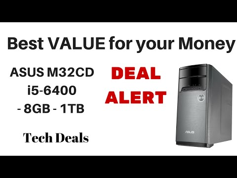 ASUS M32CD i5-6400 / 8GB / 1TB - Best Deal on a Desktop Computer on the Market Today!
