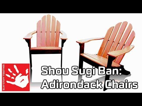 Shou Sugi Ban: Adirondack Chair [DIY] Norm Abram's design