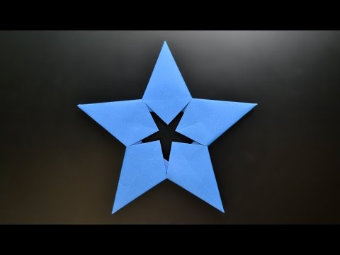 Origami: Modular 5 pointed star / Money Star - Instructions in English ( BR )