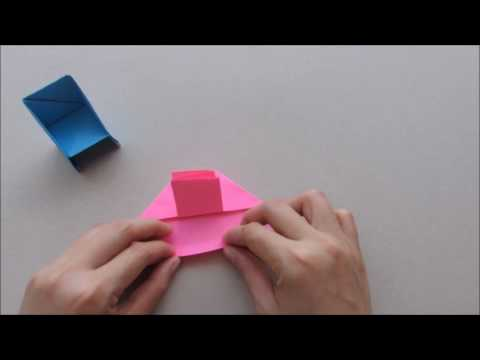 How to make an origami paper chair | Paper craft & Origami tutorial | Cindy DIY