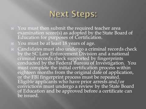 South Carolina's Licensure Requirements for Educators