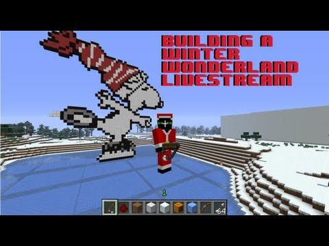 Building a Winter Wonderland - Pixel Art (Minecraft)