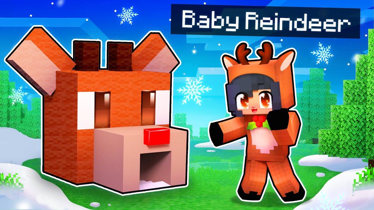 My BABY Reindeer's SECRET Minecraft Base!