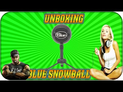 Blue Snowball Microphone Unboxing, Review