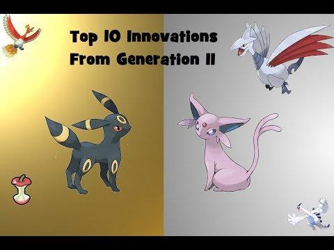 Top 10 Innovations in Pokemon from Gen II
