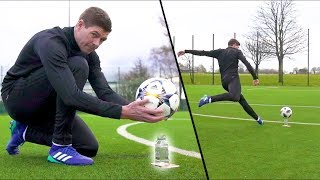 STEVEN GERRARD & F2 AMAZING SHOOTING SESSION! *WATER-BOTTLE EDITION*