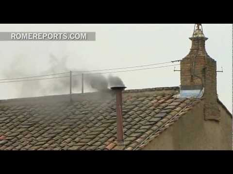 Round 2: Still no Pope. Black Smoke comes out of Sistine Chapel