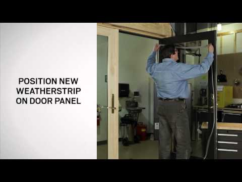 How To Replace Gasket Weatherstrip for Hinged Patio Doors