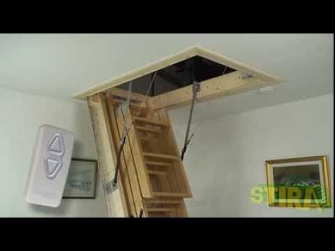 Stiramatic electric attic stairs loft ladder from Stira