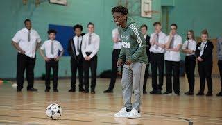 Manchester United Under 23's midfielder Angel Gomes goes back to school