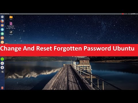 Change And Reset Forgotten Password On Ubuntu