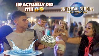 You Wont Believe What I Dared Him To Do At Universal Studios!!!
