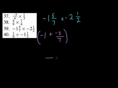 Negative mixed number and fraction operations (HW1)