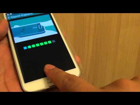 Samsung Galaxy S5: Setup Screen Lock With Finger Print Scanning