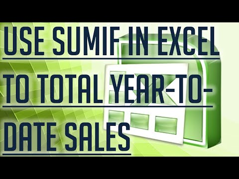 [Free Excel Tutorial] USE SUMIF IN EXCEL TO TOTAL YEAR-TO-DATE SALES - Full HD