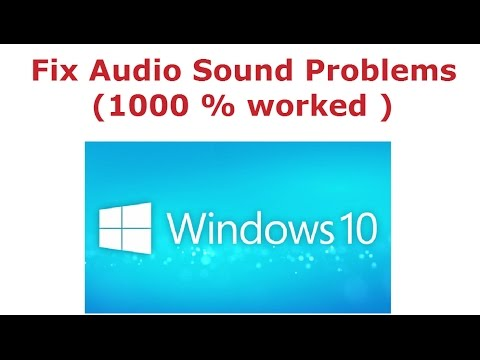 How To Fix Audio Sound Problems in Windows 10 (1000 % worked )