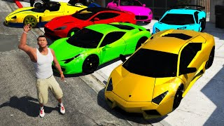 GTA 5 - Collecting FAMOUS FOOTBALLER Super Cars!