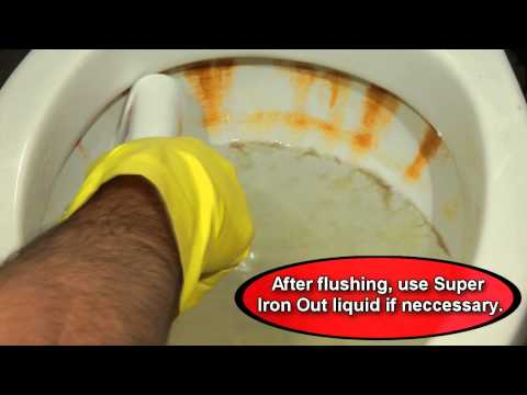 Super Iron Out - How To Clean A (Very) Rusty Toilet