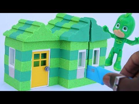 How To Make PJ Masks House Kinetic Sand SuperHeroes Satisfying Video