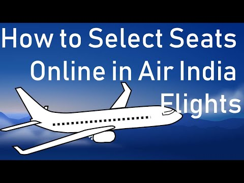How to Select Seats Online in Air India Flights