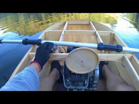 Homemade Mini Boat Water jet engine test ウォータージェットエンジンのテスト